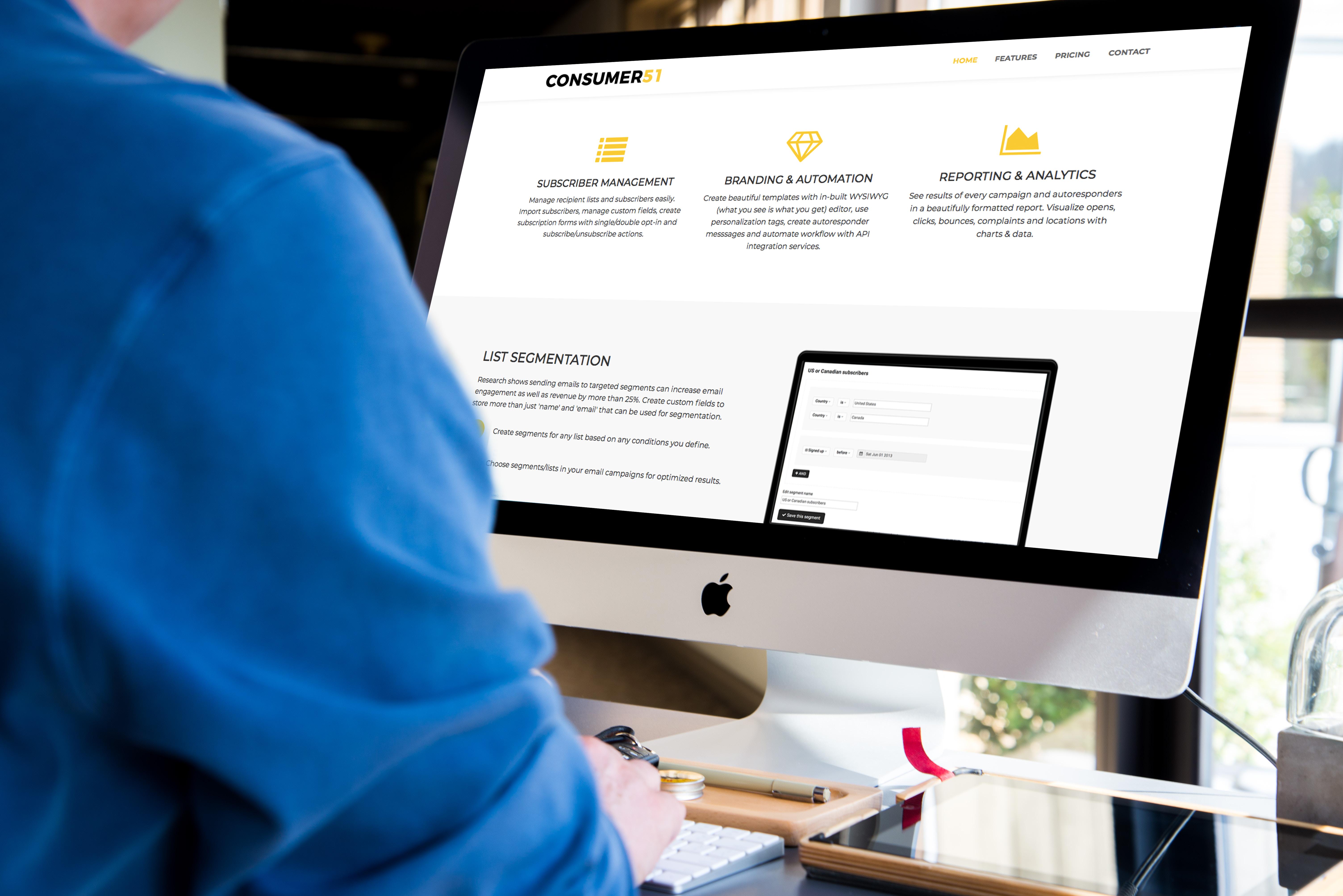 Consumer51's email marketing platform 51emails