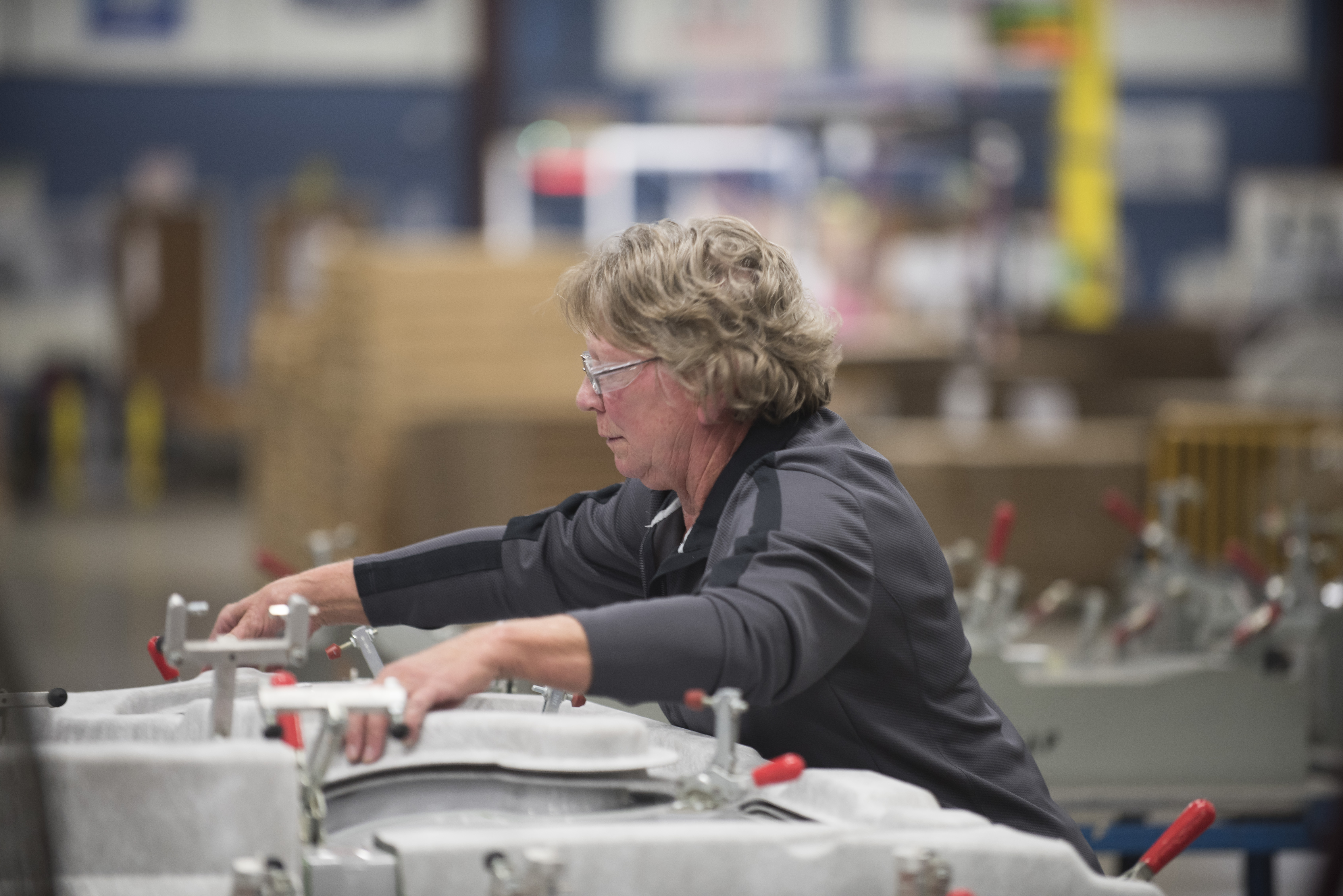 A photo of the Oji manufacturing floor captured during Consumer51's photo shoot