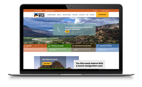 New website for NMWild designed by Consumer51