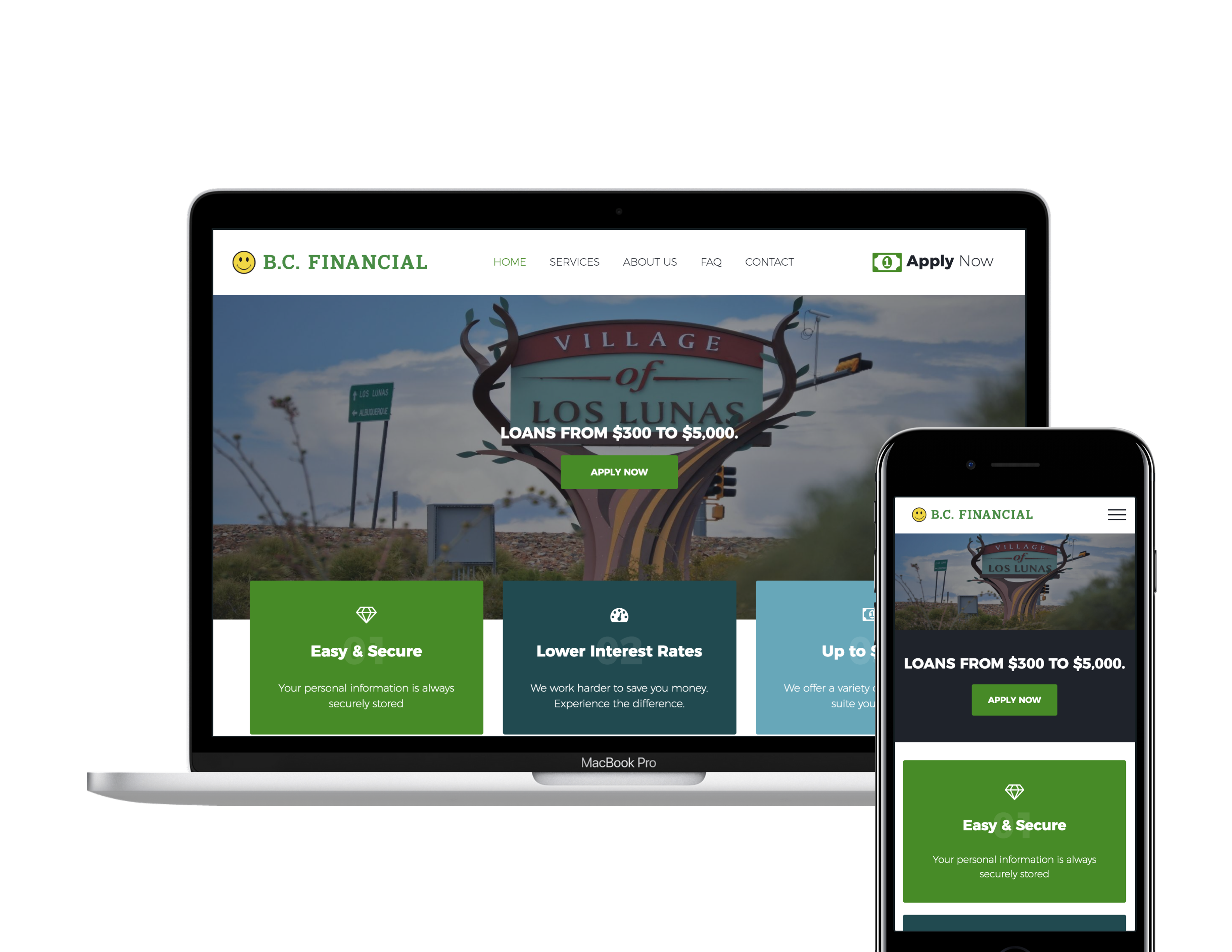 Responsive new site for BC Financial in New Mexico